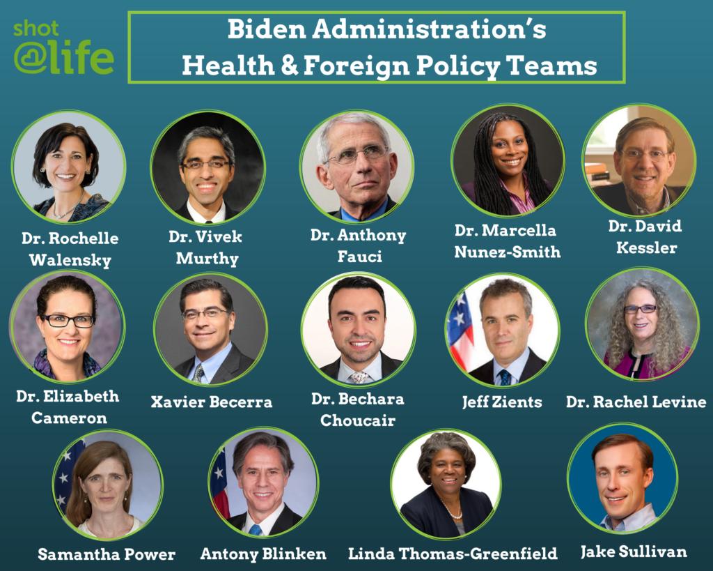 Biden Health & Foreign Policy Team